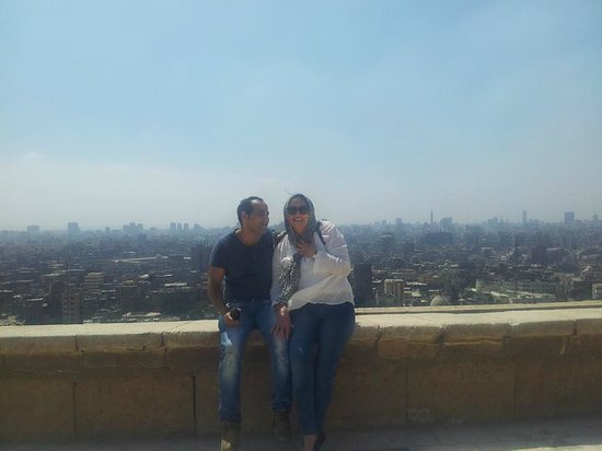 Moustafa Egypt Tours-Day Tours: Moustafa and myself with a amazing view of Cairo in the background