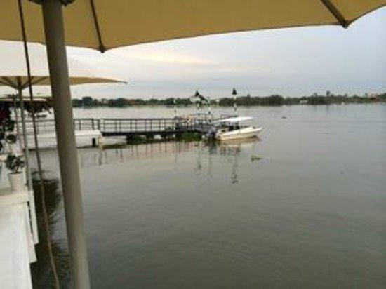 Villa Song Saigon: Their private pier and cute boat