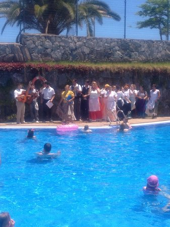Hotel Revoli : The hotel staff including all the maids dressed up and singing round the pool FANTASTIC