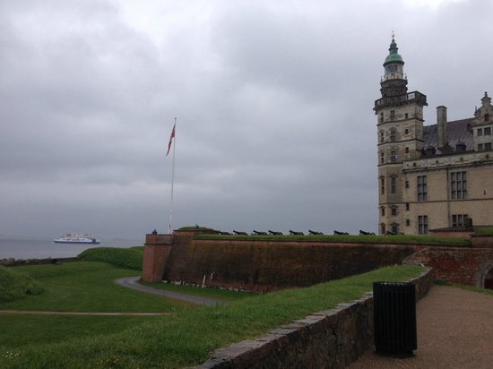 View from Kronborg Castle across the Oresund to Sweden
