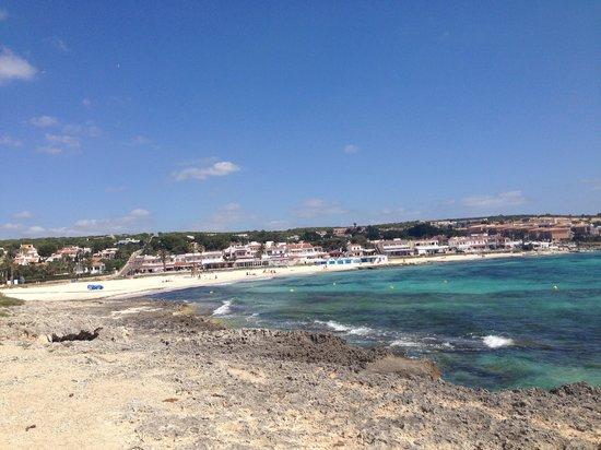 Insotel Punta Prima Resort & Spa : Punta Prima beach-hotel on right