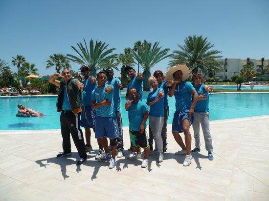 Djerba Plaza Hotel & Spa: L'équipe d'animation!