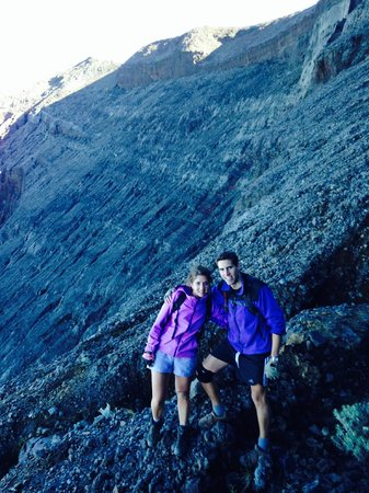 Mount Agung: The background shows how steep the climb is