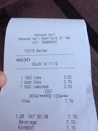 Best Western Plus Kenwood Hall Hotel: 4.20 for a large coke? 3.50 for a small lemonade?