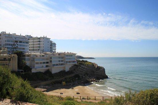Hotel Best Mediterraneo: маленький пляж