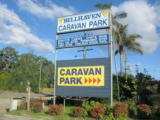 Bellhaven Caravan Park: Bellhaven Entrance