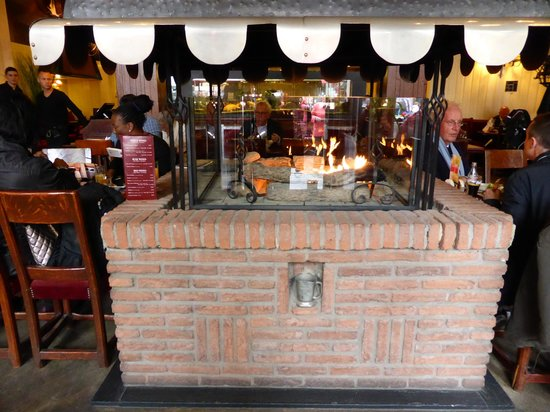 Inside the Restaurant, fireplace - Picture of Brussels Grill Grand ...