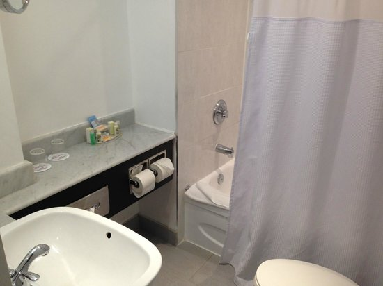 Crowne Plaza Hotel Montreal Airport : Small but bright bathroom