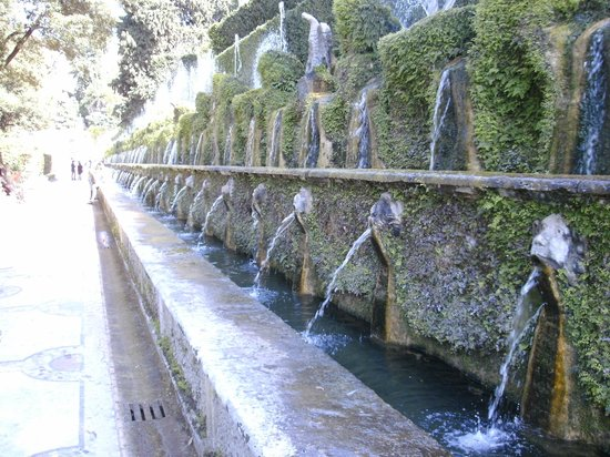 One of the fountains in Villa d'Este