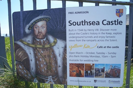 Southsea Castle Info sign