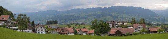 Jugendstilhotel Hotel Paxmontana : view of little village from room