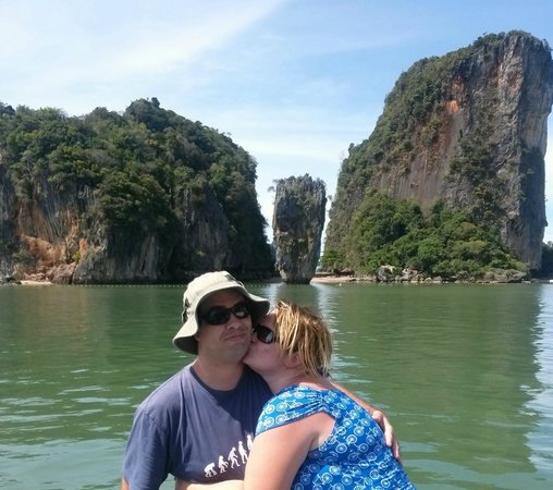 Phuket Sail Tours: Our view of James Bond Island (they don't go ashore and you don't need to - trust me)