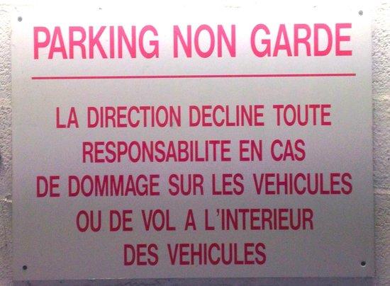 Mercure Granville Le Grand Large : Bienvenue au parking payant !