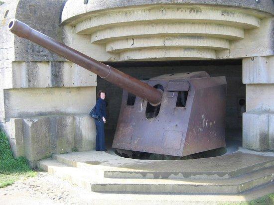Batterie de Longues : Gun emplacement, Longues sur Mer