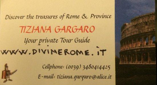 Divine Rome - Rome Tours: Business Card