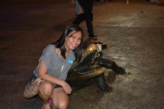 enjoing my time in night safari