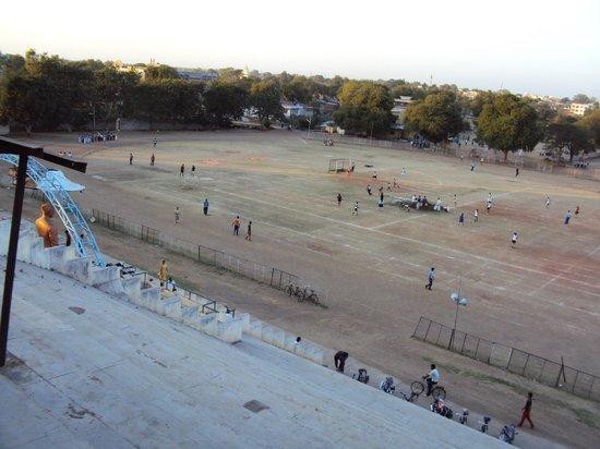 Amravati, India: View from stadium