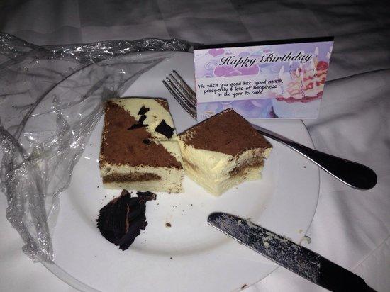 Bintan Lagoon Resort: I received this in my room on my birthday