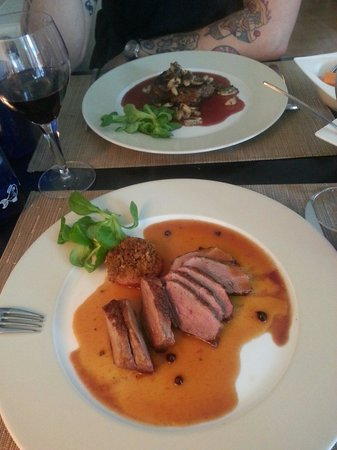 Mirabelle: Duck breast & fillet steak