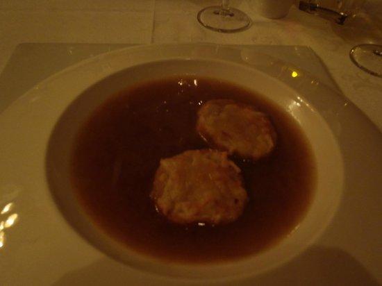 Luxury Bahia Principe Runaway Bay Don Pablo Collection : Soupe à l'oignon gratinée au resto Don Pablo (très bonne)