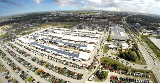 Fort Myers, FL: Aerial view of Fleamasters Fleamarket