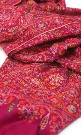 The Carpet Cellar: PASHMINA SILK HAND EMBROIDERY