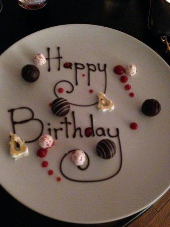 St. Moritz Hotel: Birthday treat from the chef