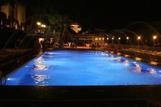 Hotel Roger de Flor Palace: Бассейн вечером