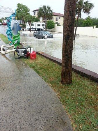 Camp Gulf : A bit of flooding after a rainy day