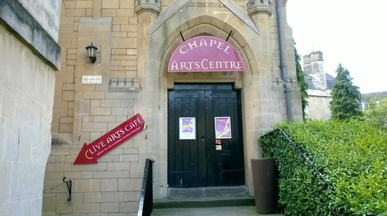 Chapel Arts Cafe: view from the street