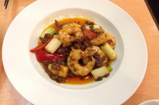 Fukumanen Honten: エビのチリ炒め