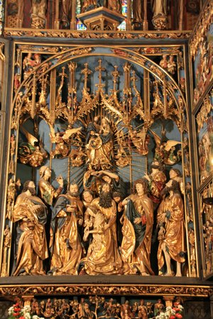 Church of the Virgin Mary (Kosciol Mariacki): One of the panels in the alter