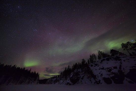 Nellim Wilderness Hotel : Aurora appearance
