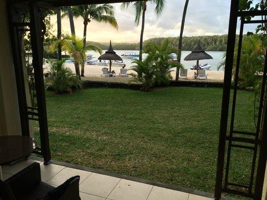 Shandrani Beachcomber Resort & Spa: Blick von der Terrasse