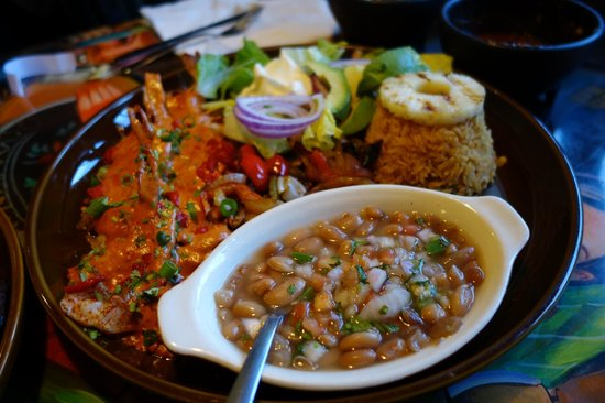 El Tapatio: One of the combo meal with Shrimp