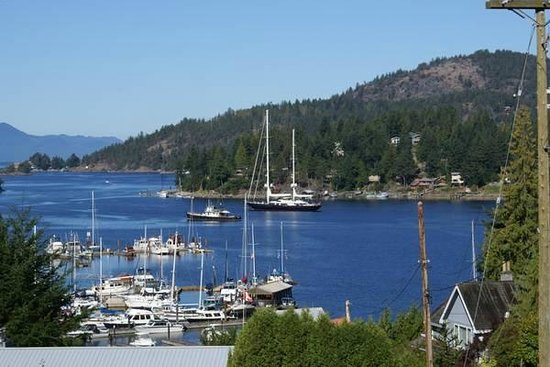 Enchanter Oceanview Suites : View from Enchanter B&B in beautiful Pender Harbour
