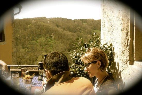 Am Siebersturm: Blick vom Balkon
