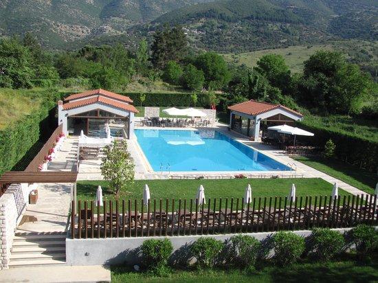 Mont Helmos Hotel : zwembad achter het hotel