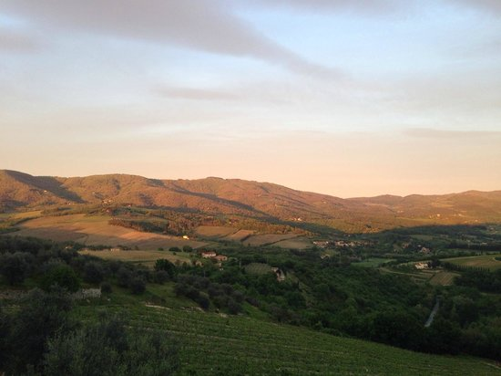 Castello Vicchiomaggio: закат