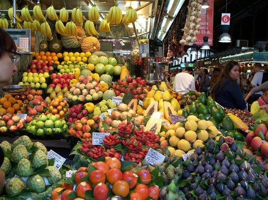 Las Ramblas: на рынке Бокерия