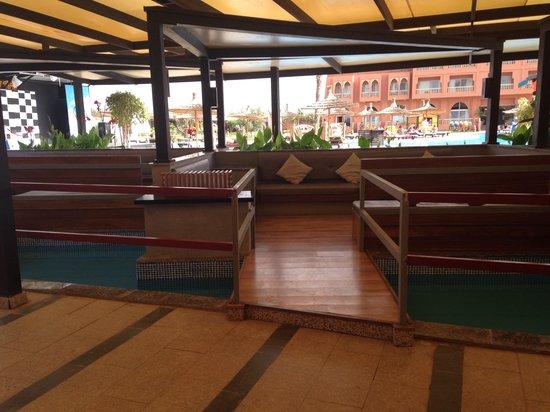 Labranda Aqua Fun Club Marrakech : Balcony surrounded by water