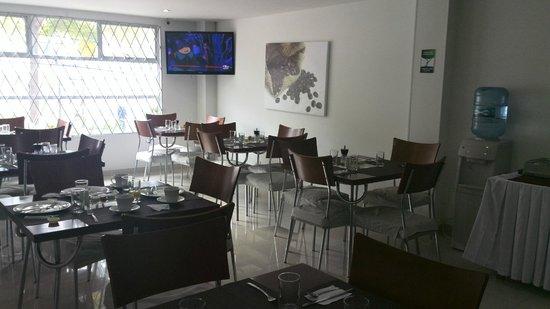 122 Plaza Apartahotel: Area de desayuno