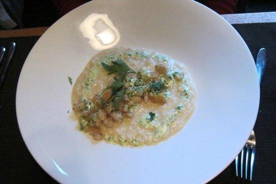 La Vache Qui Vole : Risotto + cuisses de Grenouilles + Parmigiano Reggiano