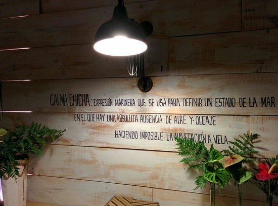 Restaurante Calma Chicha : Calma Chica