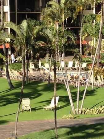 Aston Kaanapali Shores: gardenview pool from room 256