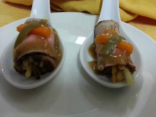 A La Brasa: aperitivo Roastbeef y verduritas-MENÚ CASUAL