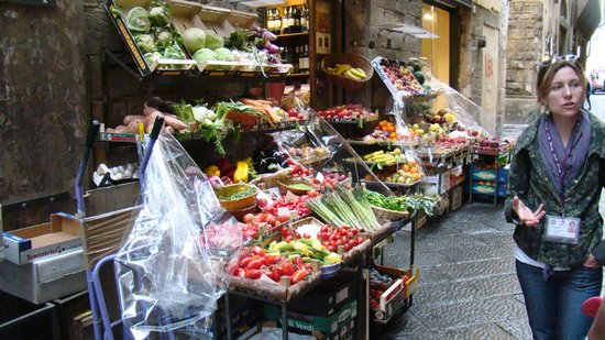 Florence Urban Adventures: Fresh, Local Produce Market we visited....