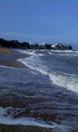 Mount lavinia beach at monsoon time