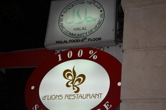 Cosiana Hotel Hanoi : You can see the HALAL logo
