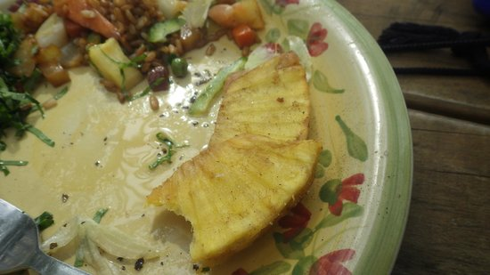 Aitutaki Adventures: The lunch, breadfruit, yum!
